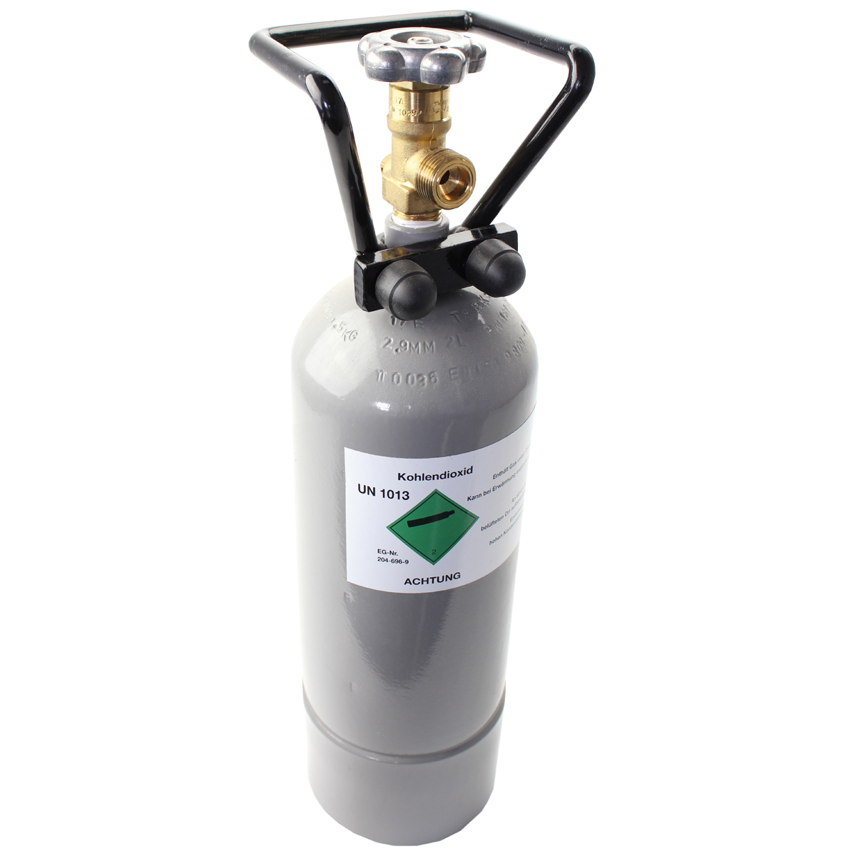 CO2 cylinder – 2.0 kg (4.4 lbs.), without filling